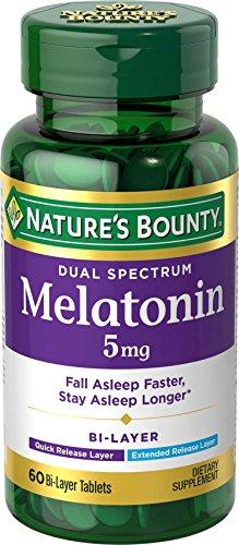 Nature's Bounty Dual Spectrum Bi-Layer Melatonin 5 mg, 60 Tablets