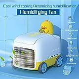 AnnQing Ventilador portátil de Aire Acondicionado Mini Ventilador de Aire Acondicionado móvil para el hogar Ventilador humidificador Ventilador Mini Spray Refrigerador doméstico Coche