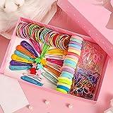 565 pz Baby Girls Fascette elastiche per capelli mini artigli per capelli BB clip per capelli regalo accessori per capelli set per bambini più piccoli