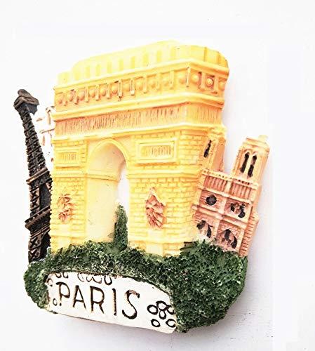 UmerBee Refrigerator Magnets Paris Arch of Triumph 3D Resin Fridge Magnet Travel Tourist Souvenir Gift Home Kitchen Decor