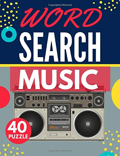 Music Word Search: Themed Activity Puzzle Book | 40 Large Print Challenging Puzzles