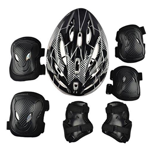 Giplar 7 Pezzi Set di Casco Protezione per Bicicletta da Skateboard...