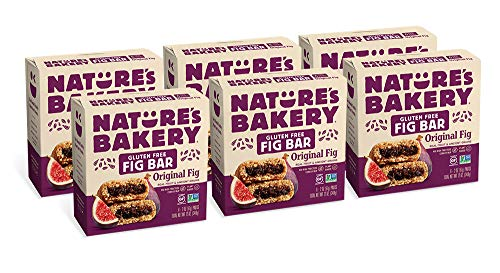 Nature's Bakery Gluten Free Fig Bars, Orignial Fig, Real Fruit, Vegan, Non-GMO, Snack bar, 6 boxes with 6 twin packs (36 twin packs)