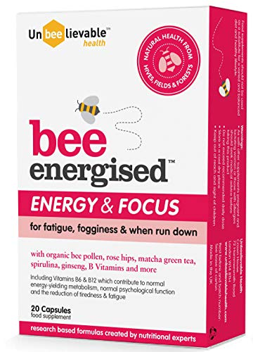 Unbelievable Health Bee Energised, Energy and Focus Supplement – 20 Capsules