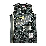 G&F Camiseta De Baloncesto Seattle Supersonics #20 Walter Payton Sin Mangas Alta Elasticidad Chaleco De Gimnasia S-XXL (Size : M)
