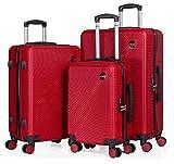 CABIN GO – Set di 3 valigie - bagaglio a mano da 55 cm, valigia media da 65 cm, valigia grande da...