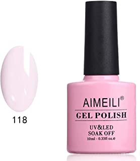 AIMEILI Soak Off UV LED Gel Nail Polish - Gardenia Jasminoides Ellis (118) 10ml