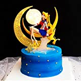 Cake Decoration Action Figure Figurine for Birthday Christmas Party Cake,Boy and Girl Kids Party Decoration Supplies (Sailor Moon Height 4.80inch)