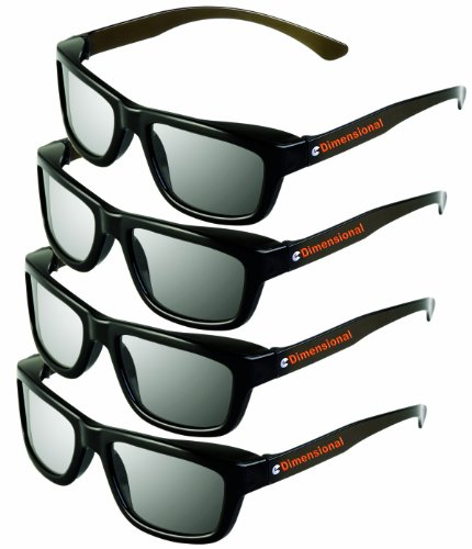 ED 4 Pack CINEMA 3D GLASSES For LG 3D TVs – Adult Sized Passive...
