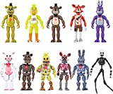New 2021 Set of 11 PCS | Featuring Five Nights at Freddys Action Figures | FNAF Action Figure Toys | About 6 inches Toy Dolls | Ideal Collection and Gift for Kids (Multi)
