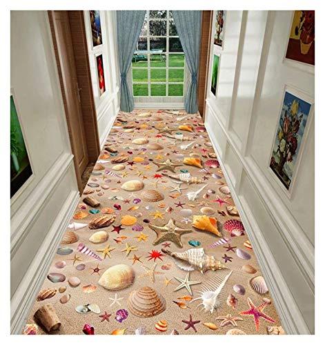 ditan XIAWU 3DCorridor Teppich Schlafzimmer rutschfest Wohnzimmer Kann Geschnitten Werden Eingang (Color : A, Size : 80x100cm)