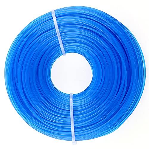 PLCatis Fil de Coupe en Nylon Rond Ø 1,6mm x 100 Mètres Bobine de Fil en Nylon pour Coupe Bordure - Ligne de Remplacement pour Tondeuse à Gazon - 1 Rouleau en Bleu