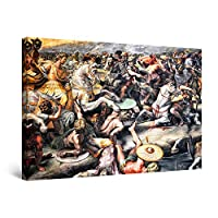 Startonight Canvas Wall Art Decor Abstract Old Fight Scene Print for Bedroom 60 x 90 cm