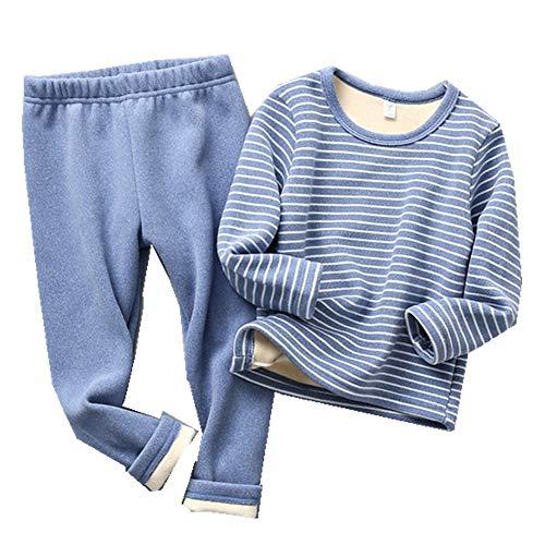 Conjuntos de Pijamas para niños Pijamas cálidos Espesar Niñas Ropa de Dormir Fleece Baby Suit