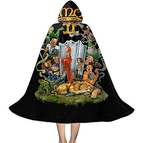 Not Applicable Capa De Mago,Simon The Sorcerer II Cover Art Disfraces De Brujos Personalizados para Niños, Niñas Y Niños 88cm
