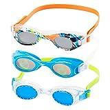 Speedo Kids Swim Goggles Triple Goggle Pack ~ Fun Prints (Green)