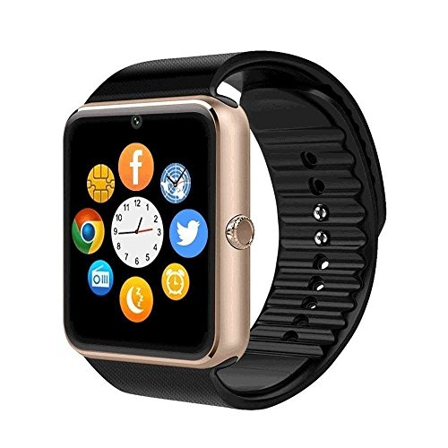 QAR Smart Watch DZ09 Smart Watch Amazon Explosion Reloj Inteligente Reloj Inteligente (Color : Gold)