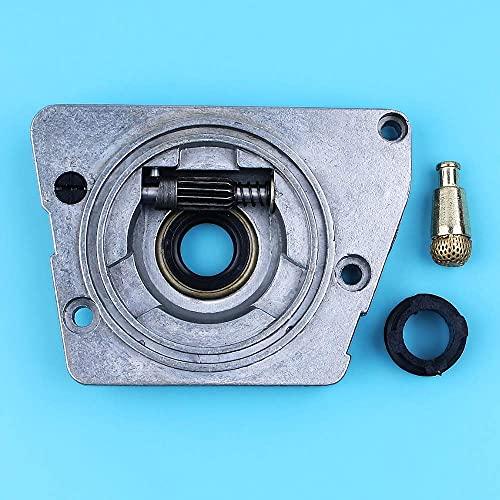 HaoYueDa Bomba de Aceite, Filtro de Aceite y Engranaje helicoidal de engrasador Compatible con Husqvarna 268272 272XP 61 66266272 XP Repuestos de motosierras Repuestos