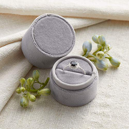 Velvet Ring Box Soft Gray, Choose 1 Shape, Engagement Ring Box, Ring Bearer Box, Wedding Ring Box, Wedding Photo Shoot, Engagement Photo Shoot, Bridal Gift