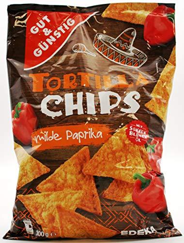 Gut und Günstig Tortilla Chips milde Paprika, 5er Pack (5 x 300g)