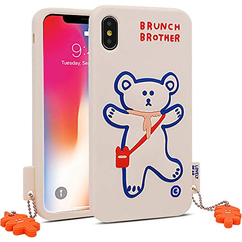 for iPhone X Case, for iPhone Xs Case, BEFOSSON Soft Silicone 3D Cartoon Cute Animal Funny Kawaii Bear Protective Phone Cover Case for iPhone X/XS for Girls Teens Boys Kids Women (5.8 inches)