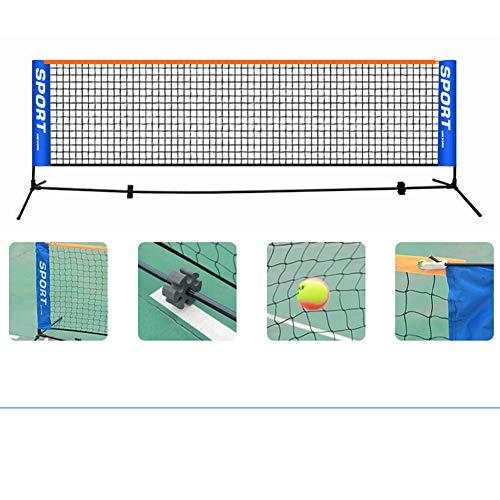 NanXi Tennisnetz 3.1m Fussballtennis - Mobil, Tragetasche - extrem Leichter Aufbau - WETTERFEST,Schwarz
