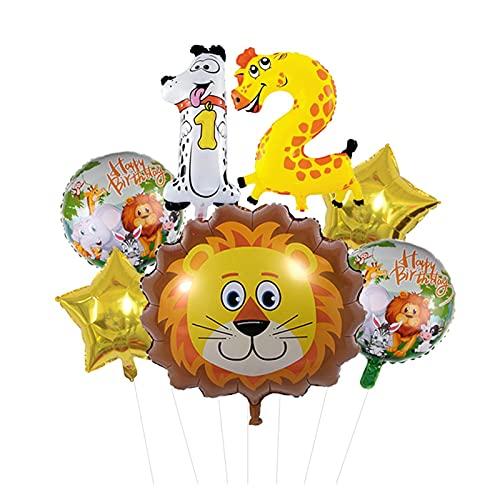 XIAOZSM Globos Lion Head Globos Set Animal Número de Diapositivas Globos Cumpleaños Cumpleaños Fiesta de cumpleaños Decoraciones Baby Shower ( Farbe : 12 )