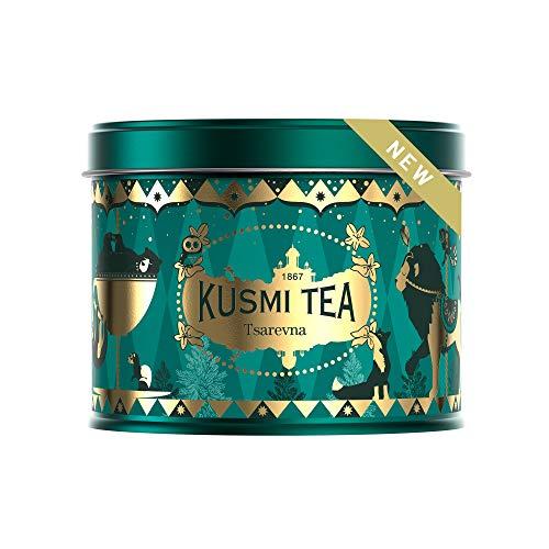Kusmi Tea – Tsarevna Bio – Aromatisierte Mischung aus schwarzem Tee, Orange und Gewürzen - 120 g Metall Teedose