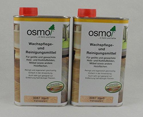 Osmo Spar-Set 2x Wachspflege & Reinigungsmittel weiß 1l, Oberflächenbehandlung