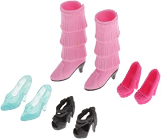 LuDa 4-Pair Fashion High Heel Shoes Outfit for 1:6 Dolls Ball Joint Doll