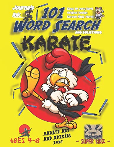 101 Word Search for Kids: SUPER KIDZ Book. Children - Ages 4-8 (US Edition). Rooster Chicken MMA. Karate Words w custom art interior. 101 Puzzles with ... - Karate Word Search for Kids, Band 1)