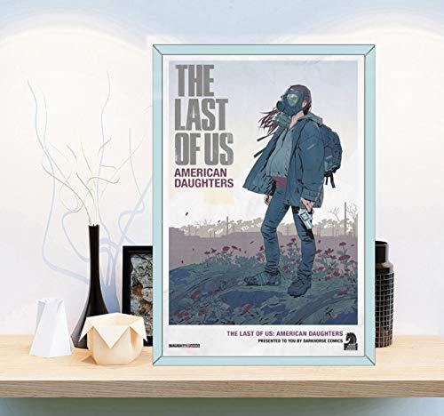 DAQIANSHIJIE Unser Endspiel Fiktionale Figur Wohnzimmer Dekoration Hd Leinwand Malerei Moderne Wandkunst Ölgemälde Poster Dekoration 42X60 cm Ohne Rahmen