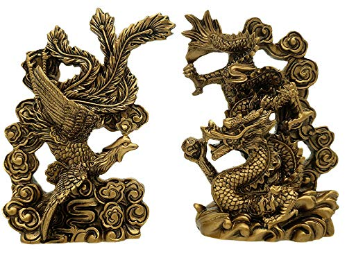 Betterdecor Feng Shui Chinese Dragon and Phoenix Statue...