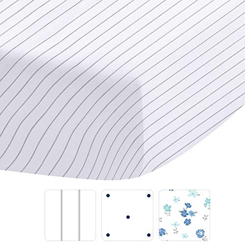 UMI. Super King Fitted Sheet - 400 Thread Count 100% Natural Cotton Grey Pinstriped Bottom Sheet Only, 30cm Deep Pocket Elasticized Sheet for Low Profile Foam and Tall Mattresses
