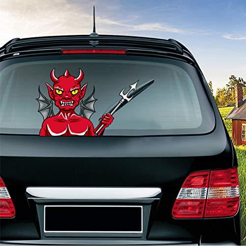 zkfornasetti Auto Sticker Halloween Rage Devil Verwijderbare Auto Styling Zwaaiende Wisser Decals Pvc Achterruit Ruitenwisser Auto Stickers Voor Auto Decoratie