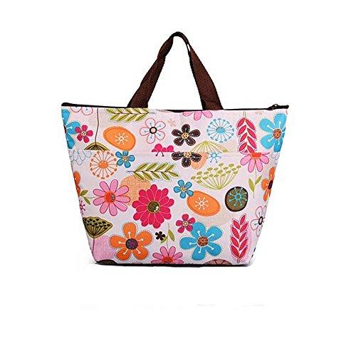 Bolsa de almuerzo reutilizable con aislamiento, portátil y duradera, bolsa de arroz para almuerzo, para hombres, mujeres y niños A