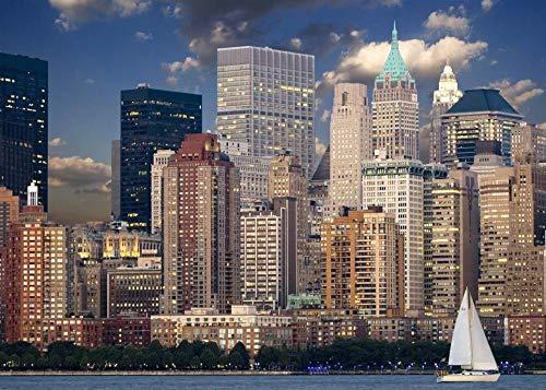 Puzzel 1000 Stukjes, New York City Gebouw Nacht Landschap, 1500/1000/500 Stukjes, Puzzel Spelletjes Woondecoratie Cadeaus
