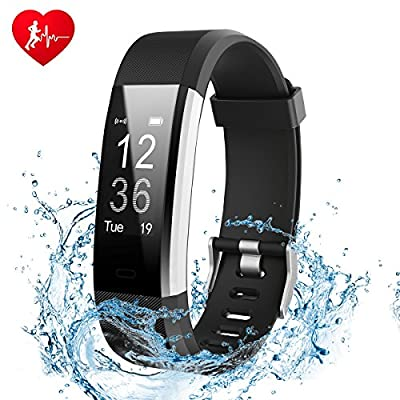 Fitness Tracker, Ginsy Activity Tracker Watch with Slim Touch Screen Wristbands, Wearable Smart Bracelet Pedometer Sleep Monitor for Android and iOS by Ginsy
