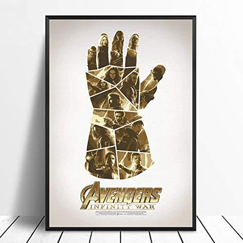 taoyuemaoyi Avengers Infinity War Thanos Guanti Movie Poster Home Decor Decorazione della Parete Arte della Parete Stampa su Tela 40 * 60Cm
