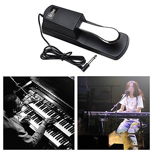 SPGHOME Pedal de sostenimiento universal para teclado Yamaha...