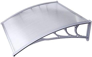 ALEKO DC40X47 Polycarbonate Outdoor Window Door Garden Canopy UV Rain Snow Protection - 40 x 47 Inches - Gray