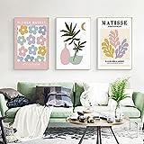 Póster abstracto de Matisse impresiones de arte minimalista en colores pastel pintura de lienzo nórdica Cuadros de pared de galería moderna Salon de estar Decoracion del hogar 40x60cmx3 sin marco
