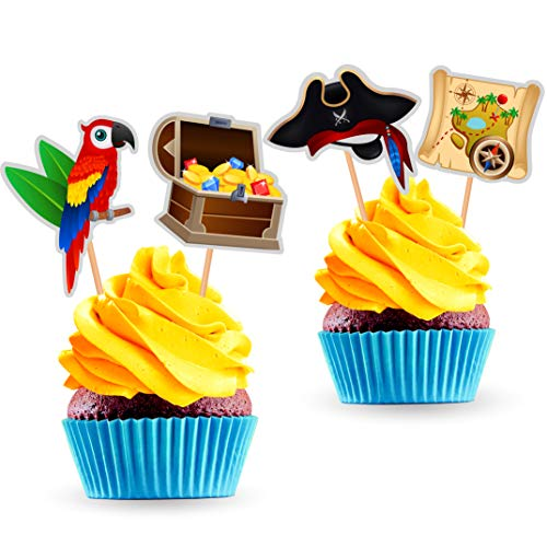 Pirate Cupcake Toppers (Pack of 24)