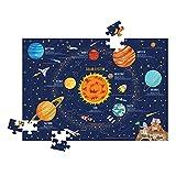 WEEPLO WP101 Rompecabezas del Sistema Solar Tamaño de 100 Piezas Adecuado para niños niñas de 3 años en adelante Juguetes educativos de jardín de Infantes Regalo Aprendizaje Juguetes para niños