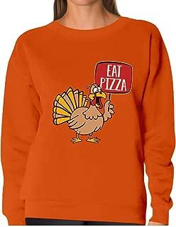 Tstars - Save a Turkey Eat Pizza Thanksgiving Women Sweatshirt