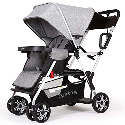 Buy Bargain Double Stroller lux Sit N Stand Baby Pushchair Tandem Lightweight Stroller Compact Vista...