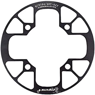 DYEY Bike Chain Cover, Bike Chain Ring Guard, Aluminum Alloy Bicycle Chainring Protector Chain-Wheel Protective Cover Chainguard