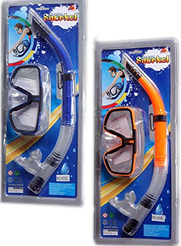 NICK and BEN jeugd snorkel set incl. duikventiel snorkel + duikbril in diverse kleuren