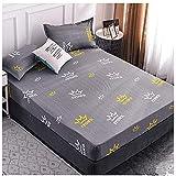 CYYyang Protector de colchón/Cubre colchón Acolchado de Fibra...
