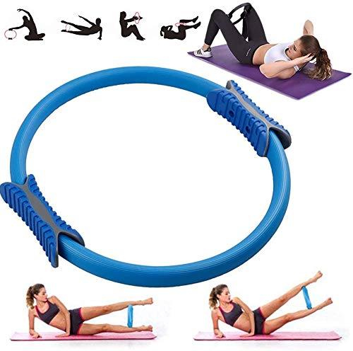 VANUODA Pilates Ring, Yoga Circle, Beintrainer Beinpresse oberschenkeltrainer, Grip Beckenboden, Bauchfett Verbrennen Schnell, Fitness Geräte für Zuhause (Blau)